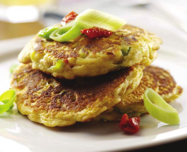 Vegetable Pancakes With Roasted Plum Sauce